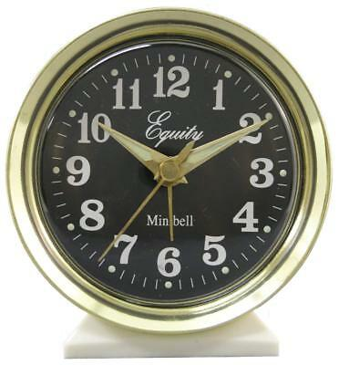 12020 Equity by La Crosse Wind-Up Bell Brass Metal Case Analog Alarm Clock Metal Alarm Clock Bells