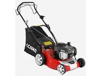 "Cobra M40SPB 16"" petrol lawnmower is powered by a B&S 450E"