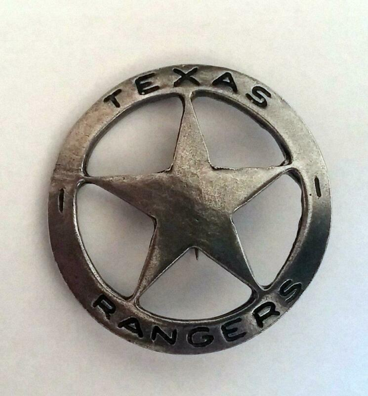 Texas Rangers Star Old West Historic Replica Badge Cast Pewter Made In The USA