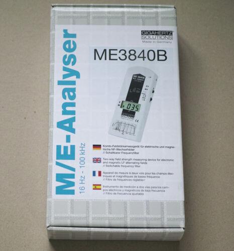 EMF meter, ME3840B, Gigahertz solutions, Made In Germany