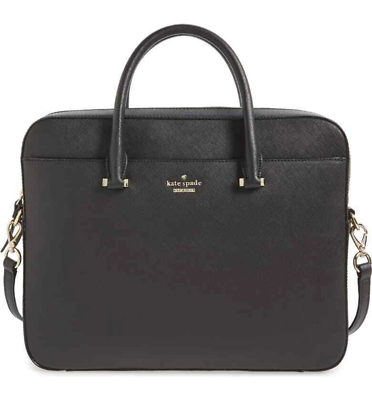Kate Spade New York Saffiano Leather 13 Inch Laptop Bag - Bl