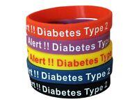 Diabetic medical alert band