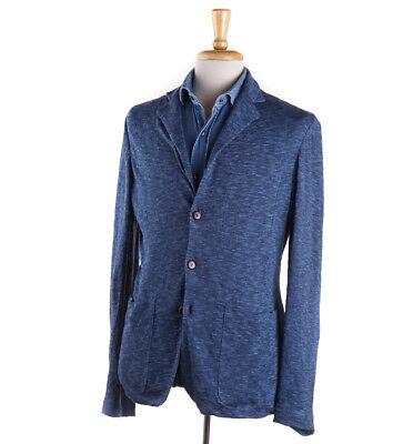 NWT $1275 BOGLIOLI Completely Unstructured Linen Cardigan-Blazer 38 (M) Blue