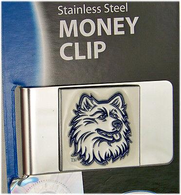 College Money Clip UCONN Huskies