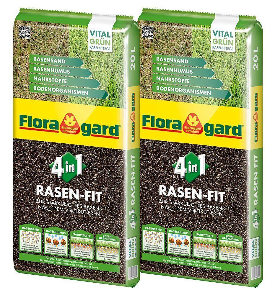 40 L (2 x 20 L) Floragard Rasenfit Rasenerde Rasendünger