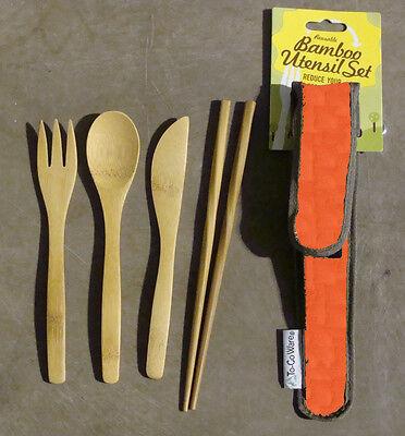 To Go Ware RePEat Bamboo Utensil Set - Pumpkin