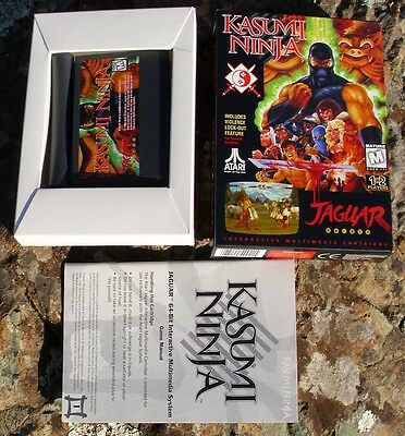 Kasumi Ninja Atari Jaguar in Box but Manual No Cover No Head Band