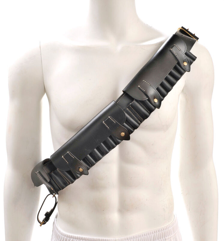 British Martini-Henry Bandolier P-1882 Black Leather