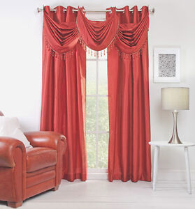 rust colored curtains ebay