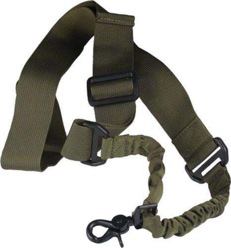 Single 1 Point Green Nylon Bungee Web Rifle Sling - NEW