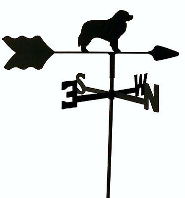 BERNESE MOUNTAIN DOG GARDEN  WEATHERVANE WROUGHT IRON LOOK MADE IN USA TLS1046IN