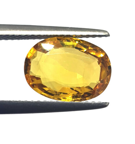 100% Excellent Quality Certified 3.80 Ct Natural Yellow Sapphire Loose Gemstone