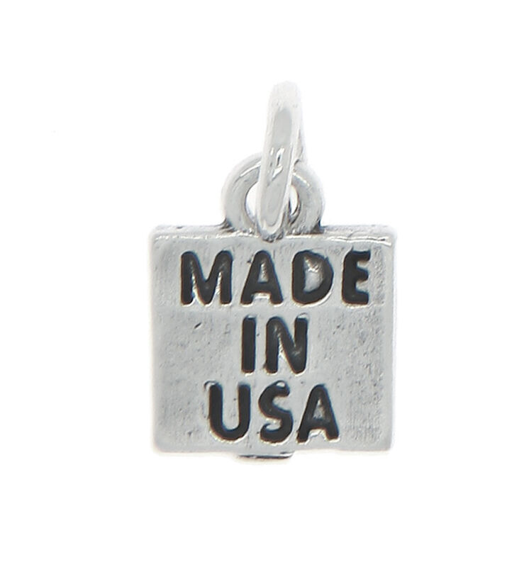 STERLING SILVER ONE SIDED MADE IN USA CHARM OR PENDANT