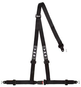 TRS Bolt-In Budget 3 Point Harness BLACK - Road Legal ECE Approved (Saloon)