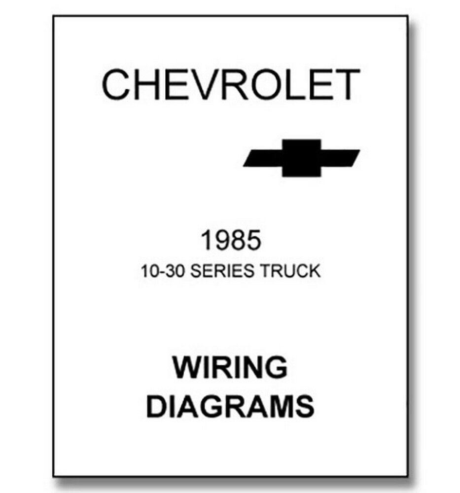 1985 Chevy Truck Wiring Diagram Ebay