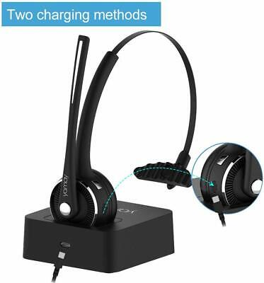 Wireless Headset YAMAY Bluetooth Headset with Microphone (Noise Cancelling Mic)