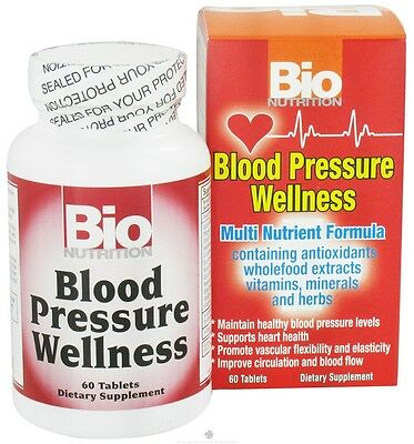 Bio Nutrition Blood Pressure Wellness 60 Tablets Bionutrition Formula