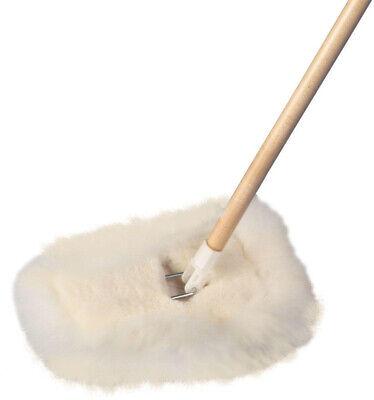 Dust Mop Lambs Wool Wedge Hardwood Handle Tile Vinyl Floor Duster Cleaner - Dust Wool