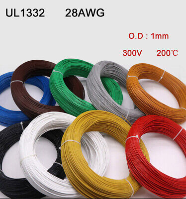 UL 1332 28AWG Teflon Stranded Electronic Wire FEP Insulation Tinned Copper Cable