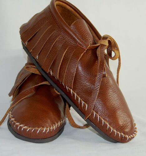 Leather Brown Soft Moccasins men