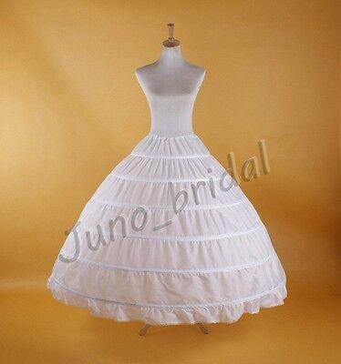 Weiß Groß 6 Ringe Hochzeit Unterröcke Petticoat Krinoline Kostüme Reifröcke Slip