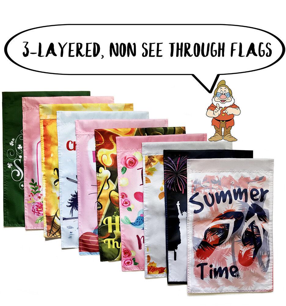 10 Seasonal Garden Flags - double sided outdoor garden flag