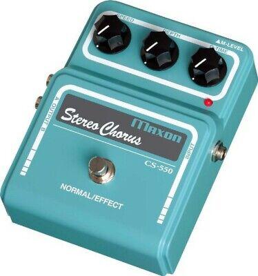 Maxon CS550Vintage Series Stereo Chorus Guitar Effects Pedal New F/S