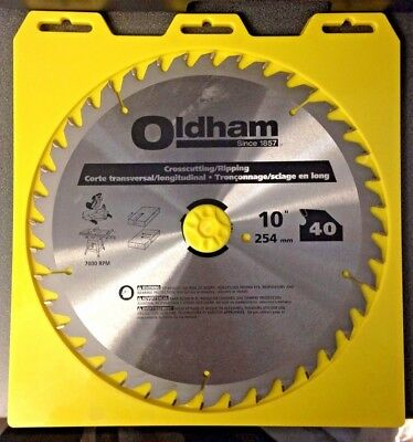 OLDHAM Circular Saw Bld, Crbde, 10 In, 40 (Oldham Circular Saw)
