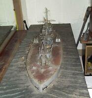 Hand Made Wood Dreadnought WW 1  Battle War Ship Trench Art