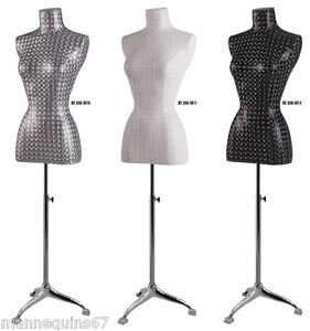 mannequin torso femme tissu robe vitrine lingerie decor ebay. Black Bedroom Furniture Sets. Home Design Ideas