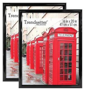 NEW MCS Trendsetter Poster Frame (2 Pack), 16 X 20-Inch, Black Condition: New