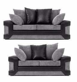 Christmas Sale Corner & 3+2 Seater Dino Crushed Velvet sofa in Black/Silver and Brown/Beige Colours