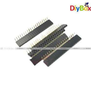 20pcs 20pin 2.54mm Pitch Header Right Angle Female Single Row Socket Connector
