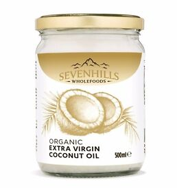 Sevenhills Wholefoods Organic Extra Virgin Raw Coconut Oil (cold-pressed) 500ml