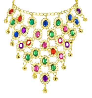 Bunter Orient Bollywood Schmuck zum Damen Kostüm Halskette - Bauchtänzerin