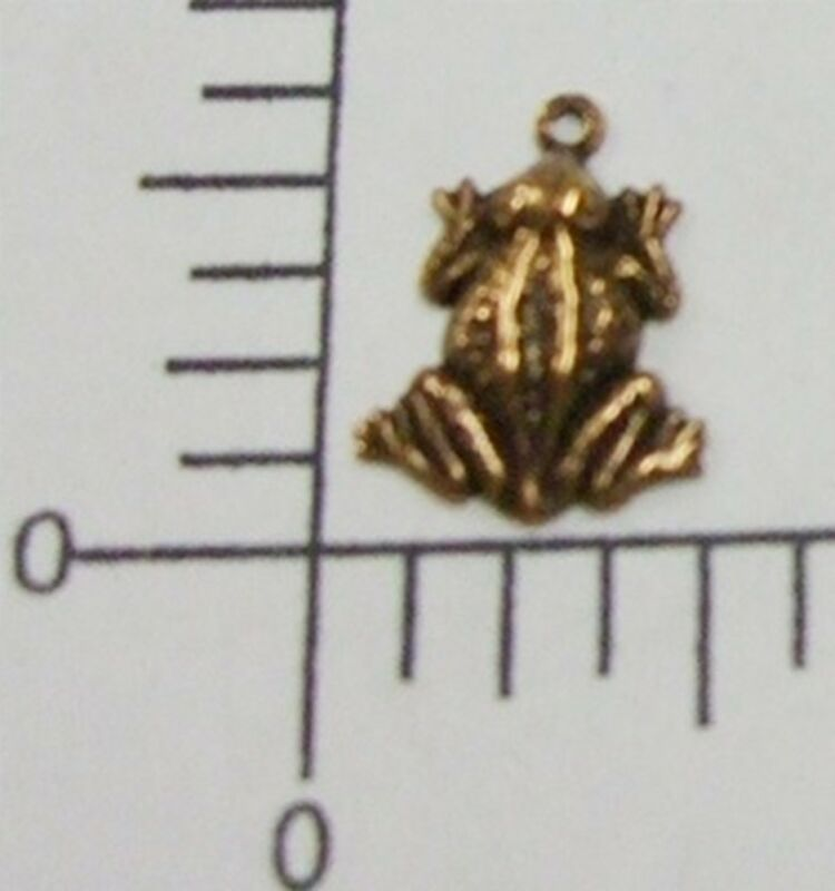 48875         6 Pc Copper Oxidized Small Frog Charm Jewelry Finding