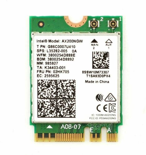 Intel Bluetooth 5 Wireless-AX200 802.11ax M.2 2230 PCI-E Card AX200.NGWG.NV NEW