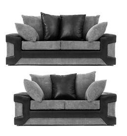 🔵⚫PREMIUM QUALITY🔵⚫BRAND NEW Jumbo Cord Fabric L-Shape Corner Unit or 3+2 Sofa-Dino Sofa Set