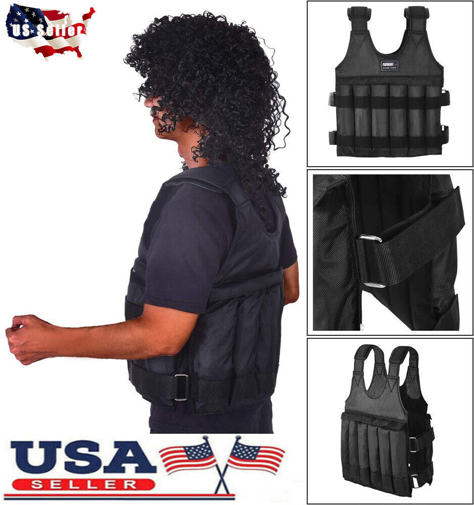 44LB/110LB Adjustable Weight Vest Weighted Workout Exercise