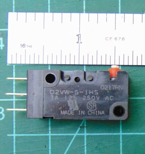 Omron Microswitch, Pin Plunger, SPDT, 5A, 125VDC, IP67, D2VW-5-1HS, UL, CSA