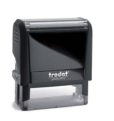 Trodat 4914 Custom Business Return Address Rubber Stamp 4 Line Self Inking Stamp