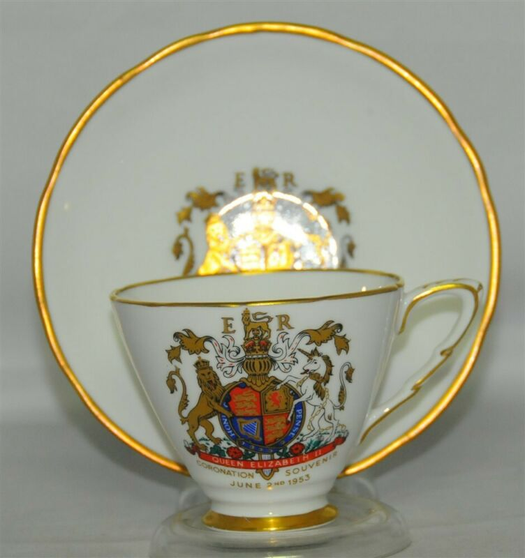 Royal Standard Queen Elizabeth Coronation 1953 Teacup & Saucer