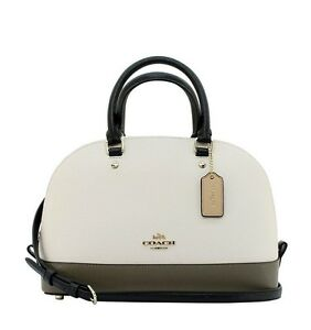 Coach-Mini-Sierra-Crossbody-Satchel-Crossgrain-Leather-Colorblock-Chalk