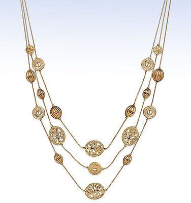 Style&Co Gold-Tone 3-Row FILIGREE Bead Illusion (Illusion Style Necklace)