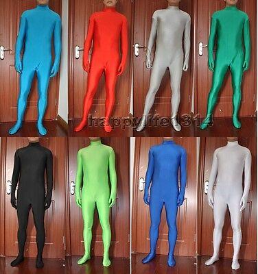 Halloween Party Lycra spandex zentai costume Skin bodysuit headless size S-XXL