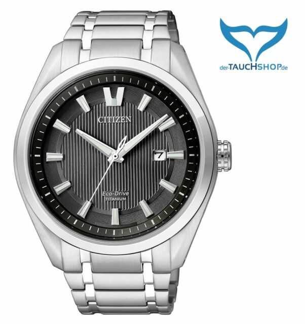 Citizen Super Titanium Herren Armbanduhr AW1240-57E Saphir Eco-Drive Herrenuhr