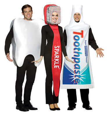 Dental Costume Set - Toothbrush, Toothpaste, - Tooth Costumes