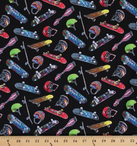 Cotton Sports Skateboard Equipment Helmet Cotton Fabric Print by yard D668.38
