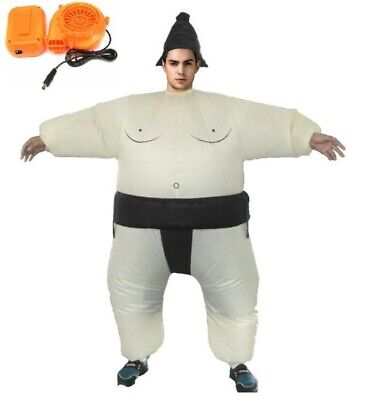 Sumo Wrestlers Costume (Inflatable Sumo Costume Adult Wrestler Fancy Dress Kid Party Gift Cosplay)