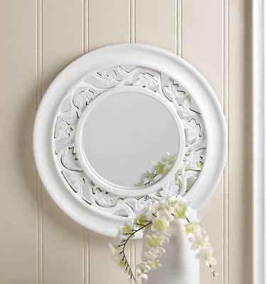 WHITE IVY WALL MIRROR HOME DECOR ~10016672